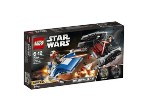LEGO Star Wars 75196  A-Wing kontra TIE Silencer