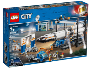 LEGO City 60229  Transport i montaż rakiety