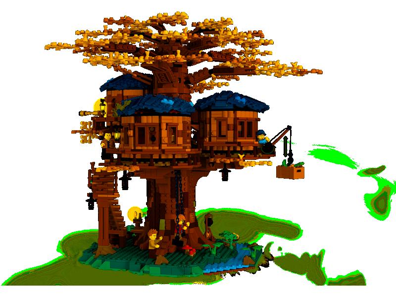 zegarek domek na drzewie